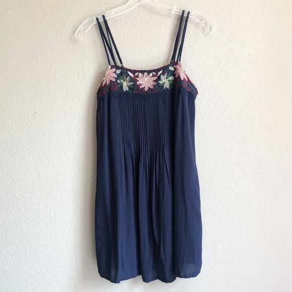 American Eagle Floral Embroidered Mini Dress XS